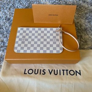 NEW Louis Vuitton D Azur MM wristlet pouch